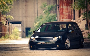 Picture Volkswagen, cars, auto, Golf, cars walls, Wallpaper HD, Tuning auto, blac, Volkswagen Golf