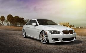 Picture BMW, BMW, white, Car, 335i, e92