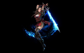 Picture magic, Girl, sword, stroke