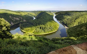 Wallpaper Germany, river, turn