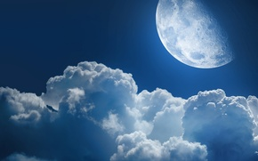 Picture cloud, spaces, planet, the sky, planet, the moon, the universe, night, heaven, star, space, stars, ...