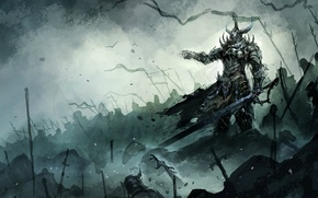 Picture dust, sword, helmet, armor, warriors, Army