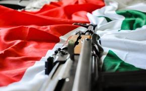 Picture weapon, AK-47, flag, syria, syrian flag
