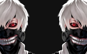 Picture eyes, monster, anime, mask, guy, ken, Gul, the essence, tokyo ghoul, the kanek