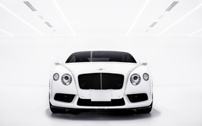 Picture Bentley, Continental, white, front, GT V8S