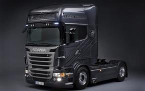 Picture Truck, Scania, Tractor, R620, Scania, Scania Trucks, Chrome wheels, P620, Diamond, Dark Daimond