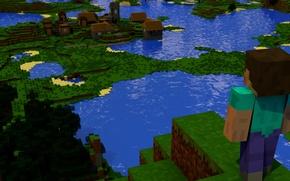 Picture landscape, cube, minecraft, minecraft