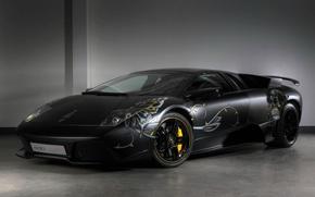 Picture black, Lamborghini, airbrushing, LP710