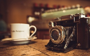 Picture background, camera, Cup
