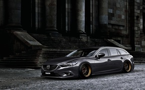 Picture Mazda, Tuning, Stance, Silver, Wheels, Works, Speed 6