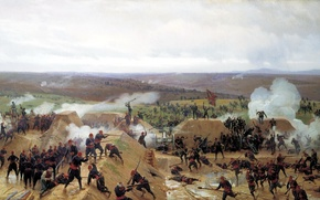 Picture the Russo-Turkish war, Nikolai Dmitriev-Orenburg, the battle of Plevna