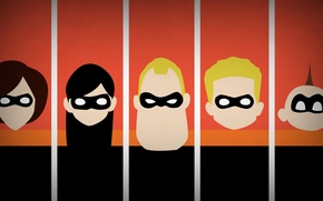 Picture minimalism, Disney Company, blo0p, The Incredibles, the incredibles