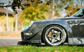 Picture machine, auto, metalik, Porsche, grey