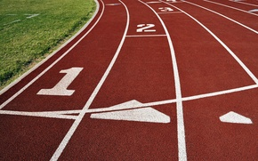 Picture sport, red, lines, track, pitch