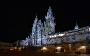 Picture lights, Cathedral, night, Spain, area