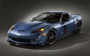 Wallpaper сarbon, blue, Z06, Corvette