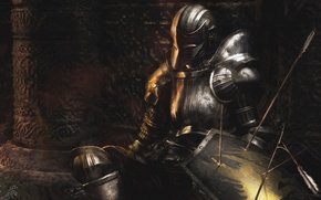 Picture armor, warrior, knight, arrows, Demon's Souls