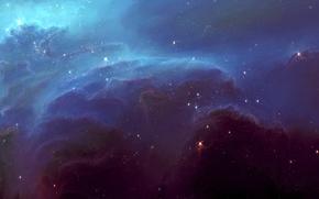 Picture space, stars, clouds, nebula, glow, art, HellsEscapeArtist, TylerCreatesWorlds