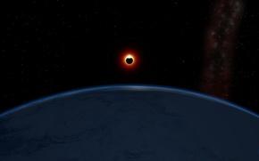 Picture planet, satellite, Eclipse