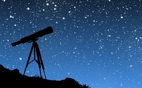 Wallpaper vector, telescope, the sky, stars