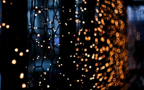 Picture macro, mesh, garland, light bulb
