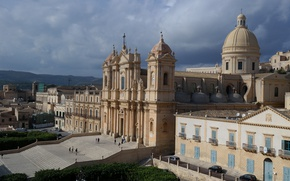 Picture home, Italy, Cathedral, Sicily, Noto