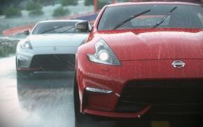 Picture rain, race, the game, race, Nissan, rain, race, 2014, 370 Z, PS4, Driveclub, Evolution Studios