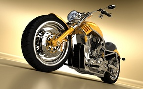 Picture metal, chopper, motorcycle