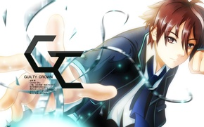 Picture tie, gesture, guilty crown, guilty crown, shu ouma, student