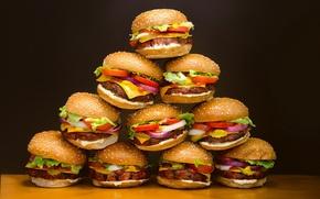 Picture background, food, hamburgers plastic