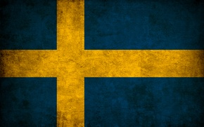 Wallpaper flag, color, Sweden
