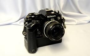Picture background, the camera, mirror, single lens reflex cameras, small, Nikon FA