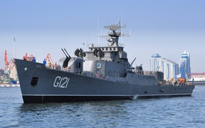 Picture ship, frigate, The Caspian sea, guard, G121