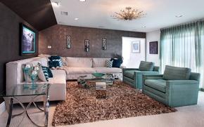 Wallpaper photo, Design, Chair, Sofa, Carpet, Interior, Living room
