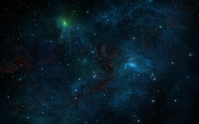 Wallpaper space, nebula, lights, lights, lights, patterns, stars, art, space, universe, placer, nebula, art, glow, stars, ...