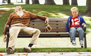 Picture Johnny Knoxville, Johnny Knoxville, Billy, Irving Zisman, Jackson Nicoll, Bad Grandpa, Bad grandpa, Jackson Nicoll