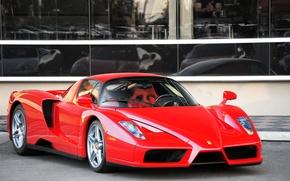 Picture Ferrari, red, supercar, Enzo