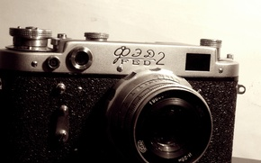 Picture Fed, RARITY, Black and WHITE, The CAMERA, FRAME, LENS, CASE, MARKUP, FED
