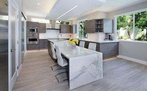 Picture design, furniture, kitchen, plate, mansion, Design, Interior, Kitchen