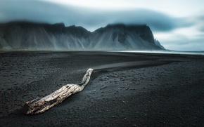 Wallpaper fog, sea, shore
