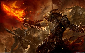 Picture Fire, Sword, Fire, Call, Guild Wars 2