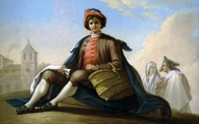 Picture basket, picture, cloak, genre, Ramon, Bayeux and Subias, Camper Boy