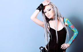 Picture face, style, background, model, hair, body, makeup, tattoo, cool