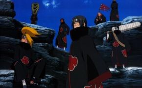 Picture the sky, sword, braid, Itachi, ninja, Akatsuki, Deidara, Naruto Shippuden, Tobi, Hidan, Kisame, Zetsu, Naruto …