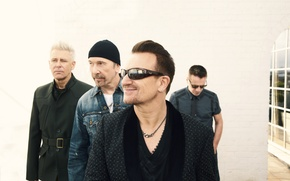 Picture Adam Clayton, The Edge, Bono, Larry Mullen Jr.
