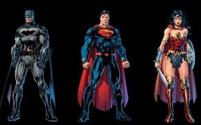 Picture Wonder Woman, Batman, Superman, Rebirth