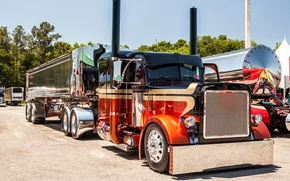 Wallpaper truck, custom, mid america, peterbilt