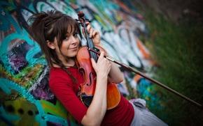 Wallpaper beauty, violin, Lindsey Stirling, Lindsey Stirling, violinist