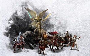 Picture Angel, People, Wolf, Fighter, Shooter, Rider, Might & Magic 7, Priest, Knight., Heroes of might …