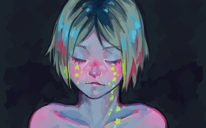 Picture stars, guy, crying, by Daniiux, Karma, Kazuma, Volleyball!